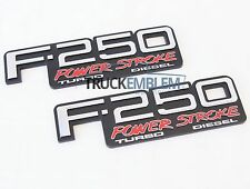2 NEW (PAIR) SET CUSTOM 94-98 OBS F250 POWERSTROKE TURBO DIESEL FENDER BADGES