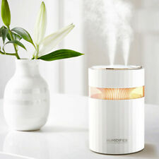900ml USB Double Nozzle Home Humidifier Mist Diffuser Maker 7 Colors LED Light