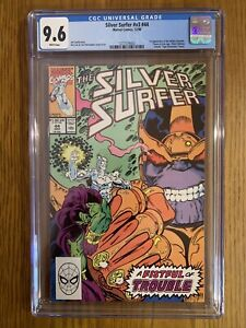 SILVER SURFER #44, CGC 9.6 NM+, THANOS, 1ST APPEARANCE INFINITY GAUNTLET