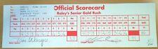 PGA GOLF RALEY'S SENIOR GOLD RUSH TOURNAMENT SCORECARD 3-70 J.C. SNEAD 10/17/93