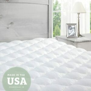 Pillowtop Mattress Topper with Fitted Skirt - Extra Plush Topper 80x190