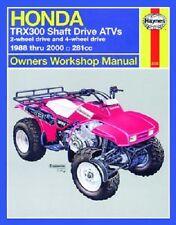 HAYNES SERVICE MANUAL HONDA FOURTRAX TRX300 2WD 1988-00 & TRX300FW 4X4 1988-2000