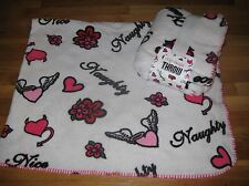 New Cozy Soft Plush Charlotte Russe playful & naughty angel wings heart Throw