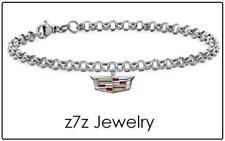 """CADILLAC 8"""" Charm Bracelet - car auto logo caddie wrist chain jewelry z7qq"""