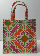 "Earthbags Jute Mini Tote Gift Bag Laminated Interior 8""x 8"" Multi - New"