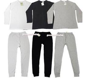 2pcs Mens Cotton Thermal Top/ Long Sleeve Spencer + Long Johns/ Pants Underwear