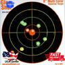 100 Pack SHOOTING TARGETS Glow Shot Reactive Splatter Gun Rifle Paper Target