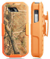 Orange Camo Tree Real Woods Case Cover + Belt Clip for Sonim XP5s (XP5800)