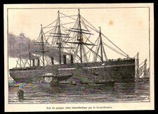 1897  --  POSE DU PRMIER CABLE TRANSATLANTIQUE PAR LE GREAT EASTERN   3N456