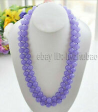 "Long 25"" 36"" 50"" 6/8/10/ 12mm Lavender Alexandrite Round Gems Beads Necklace AAA"