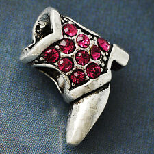 White Golden Silver Rose Red CZ Womens Fashion Shoe Beads Pendant Fit all