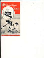 1954 Baseball Schedule and handbook Yankees Howard clothes bbmg10