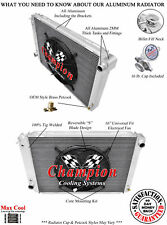 """3 Row DR Champion Radiator W/ 16"""" Fan for 1980 - 1984 Ford F-Series V8 Engine"""