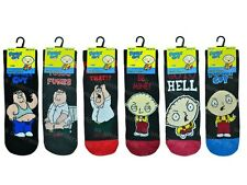 6 Pairs Official Mens Family Guy Character Socks Ankle Socks Adults 6-11