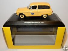 ... UNIVERSAL HOBBY SIMCA ARONDE P60 RANCH 1962 POSTES POSTE PTT 1/43 LUSSO BOX