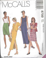 McCall's 8799 Misses' Unlined Jacket and Dress in Two Lengths   Sewing Pattern