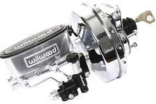 67-70 Ford Mustang Polished Wilwood Master Cylinder & Chrome Booster /Prop Valve