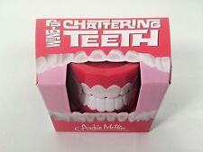 Set of Wind-Up Chattering Teeth - Great Cheap Gag Gift! Funny! Hilarious!-NIB