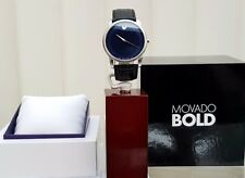 MOVADO Mens Watch Black & Blue Swiss Made Genuine RRP £380 (a79