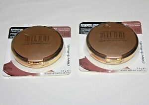Milani Smooth Finish Cream To Powder Makeup #04 Cocoa Mocha Lot Of 2 In Box