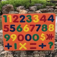 MAGNETIC EVA FOAM LETTERS SHAPE NUMBERS STICKERS KIDS LEARNING FRIDGE DECOR TOYS