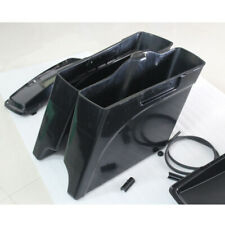 """New Unpainted 5"""" Extended Stretched Saddle bags For Harley Road King Glide 93-13"""