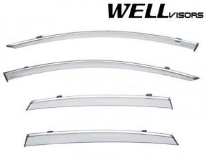 WellVisors For 17-Up Volvo S90 Sedan Window Visors Deflectors Vents Rain Guard