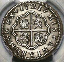 1721-S PCGS XF Det Spain 2 Reales Philip V Silver Seville Mint Coin (20102005C)