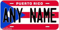 Puerto Rico Flag Any Name Novelty Car Auto License Plate