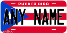 Puerto Rico Flag Any Name Novelty Car Auto License Plate