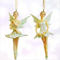 Vintage Christmas Tree Baubles Decorations Xmas Ornaments Fairy Dancing Angels