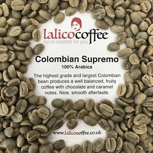 COLOMBIAN SUPREMO Green/Raw Arabica Coffee Beans For Home Roasting(Q Grade 82)
