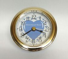 "Clock Insert Blue color heart ""Home Sweet Home"" very nice Fit up 3 1/8"" dia, Nib"