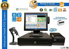 Retail Pos Pc America Cash Register Express Complete Point Of Sale System