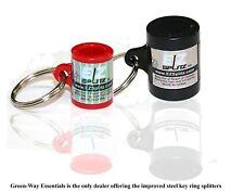 EZ Splitz 1 Large & 1 Small Cigar Cutter Blunt Splitters Solid Steel Key Chain