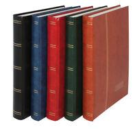 LINDNER STAMP STOCKBOOK STANDARD - 32 SIDES BLACK COLOUR - White Pages