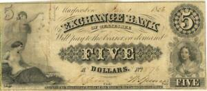 Tennessee Exchange Bank $5 Dollars Obsolete Currency 1856