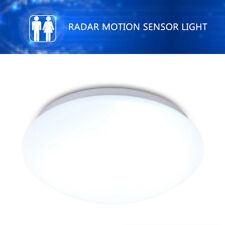 12W Round LED Radar Motion Sensor Ceiling Light Auto Detector Security Lamp 360°