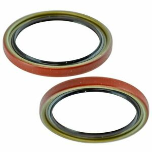 Front Driver & Passenger Side Wheel Seal Pair for Chevy Buick GMC