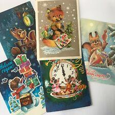 Set 5 soviet postcard  1979 - 1991 New Year