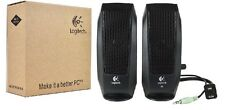 Logitech S-120 2-Piece 2-Channel Multimedia Speaker System w/Microphone Jack-NEW