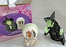 Wicked Witch & Crystal Ball Wizard of Oz Salt Pepper Shakers Vandor # 71030