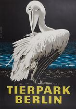 Tierpark Berlin Original Plakat Kurt Walter sehr guter Zustand Poster Zoo