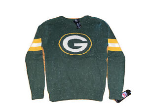 GREEN PAY PACKERS NFL TEAM APPAREL YOUTH LOGO CREWNECK SWEATER LARGE 14-16