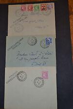 lot 3 lettres FRANCE congres de Versailles 1947