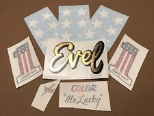 "EVEL KNIEVEL""Make your own helmet""  VINYL DECAL set!  #1 DAREDEVIL"