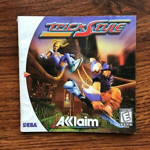 Trick Style Sega Dreamcast Instruction Manual Only