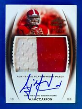 A.J. McCarrron 2014 Leaf Trinity Rookie Patch Auto. RC # /25