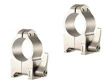 Warne Scope Rings Maxima Series Steel Tikka Quick Detachable 1 Inch Silver 2TLS