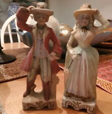 Vintage Hadson made in Occupied Japan Lady and Gentleman Tipping Hats Figurines
